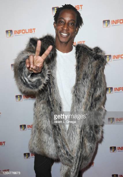 Shaka Smith attends INFOlistcom's PreOSCAR Soiree and Birthday Party for founder Jeff Gund held at SkyBar at the Mondrian Los Angeles on February 5...
