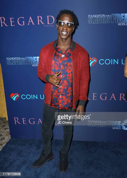 Shaka Smith attends Regard Magazine and Coin Up app host 'Regard Care' event to celebrate fall issue featuring Marisol Nichols at Palihouse West...
