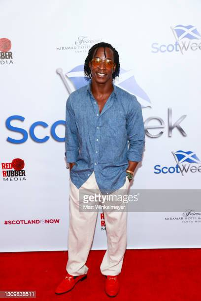 Shaka Smith attends ScotWeek red carpet Launch Party celebrating Scottish Culture And Excellence at Fairmont Miramar - Hotel & Bungalows on March 29,...