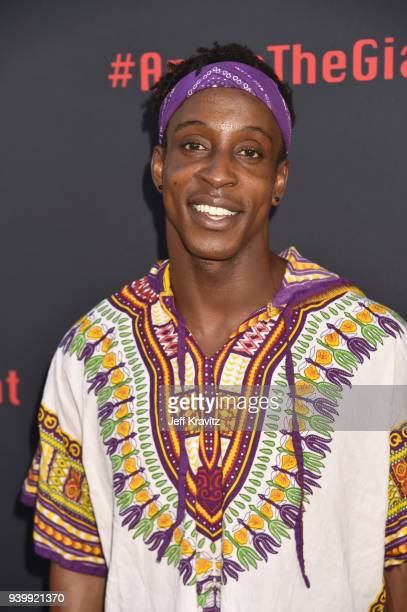 Shaka Smith attends the Los Angeles Premiere of Andre The Giant from HBO Documentaries on March 29 2018 in Los Angeles California