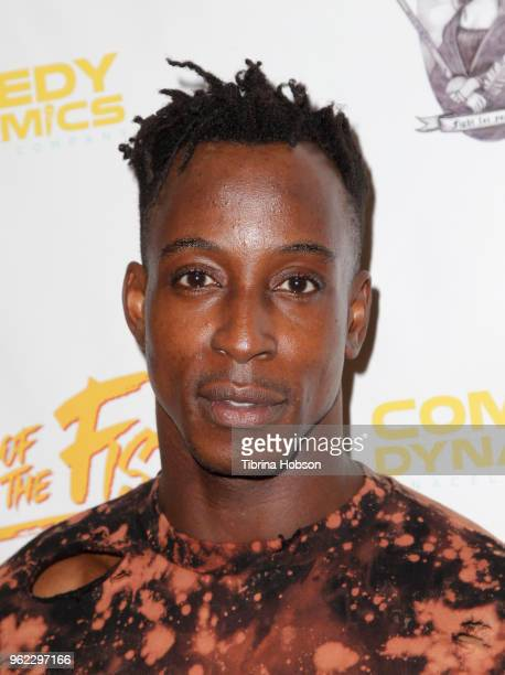 Shaka Smith attends the premiere of 'The Fury Of The Fist And The Golden Fleece' at Laemmle's Music Hall 3 on May 24 2018 in Beverly Hills California