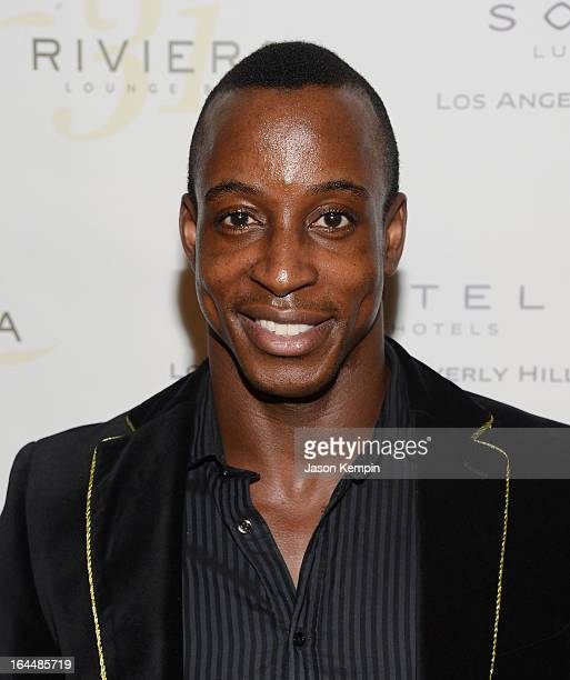 Shaka Smith attends the red carpet launch party for Fameus Smart Phone App at Sofitel Hotel on March 23 2013 in Los Angeles California