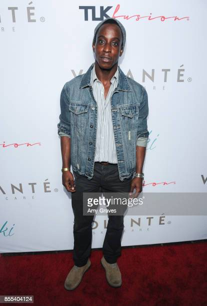 Shaka Smith attends Vicki Gunvalson And Volante Skincare's Launch Event on September 28 2017 in Los Angeles California