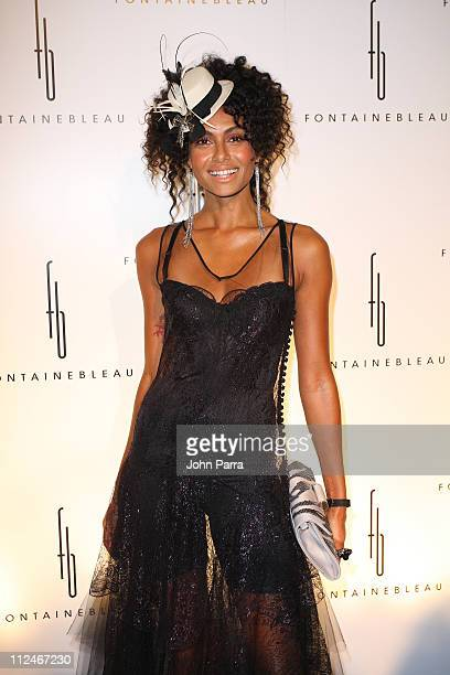 Shakara arrives at the grand opening of Fontainebleau Miami Beach on November 14 2008 in Miami Beach Florida
