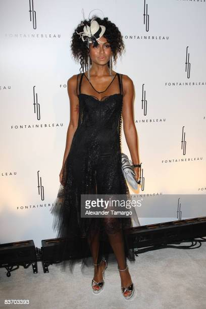 Shakara arrives for the grand opening of Fontainebleau Miami Beach on November 14, 2008 in Miami Beach, Florida.