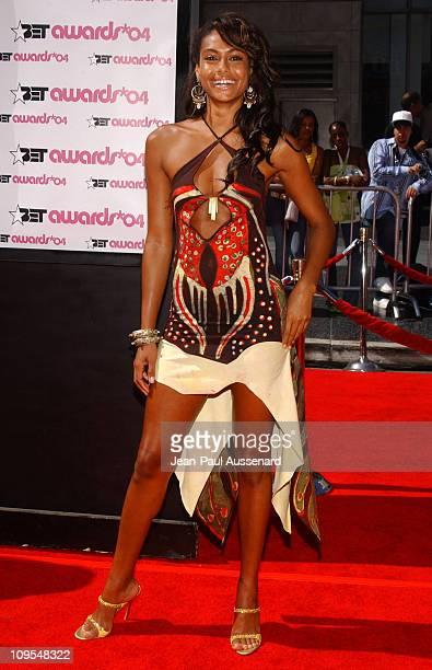 Shakara Ledard during 4th Annual BET Awards Arrivals at Kodak Theatre in Hollywood California United States