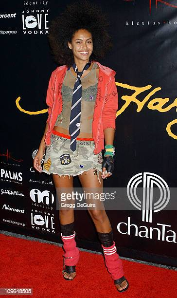 Shakara Ledard during Christian Audigier Fashion Show Featuring New Ed Hardy Label Arrivals at 1707 North Vine St in Hollywood California United...