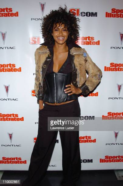 Shakara Ledard during Sports Illustrated 2005 Swimsuit Issue Press Conference at AER Lounge in New York City New York United States