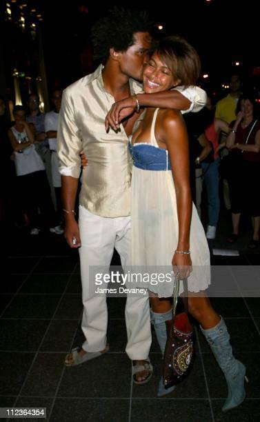 Shakara Ledard Jacob and Ralph Jacob during Playboy and Michelob Light Celebrate 'A Midsummer Night's Platinum Dream' at Playboy in New York City New...