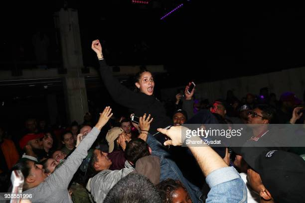 Shake attends 070 Shake 'The Glitter LP' Release Party at Public Arts on March 26 2018 in New York City