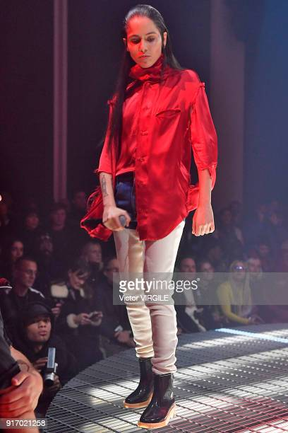 Shake during the Telfar Ready to Wear Fall/Winter 20182019 fashion show during New York Fashion Week on February 9 2018 in New York City