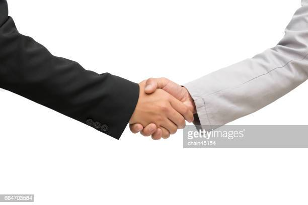 Shake hand for agreement in business concept.
