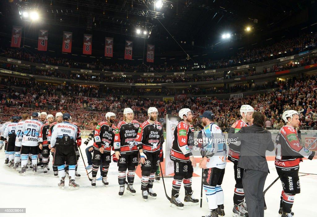 Kölner Haie vs ERC Ingolstadt - Game seven of the DEL playoff final : News Photo