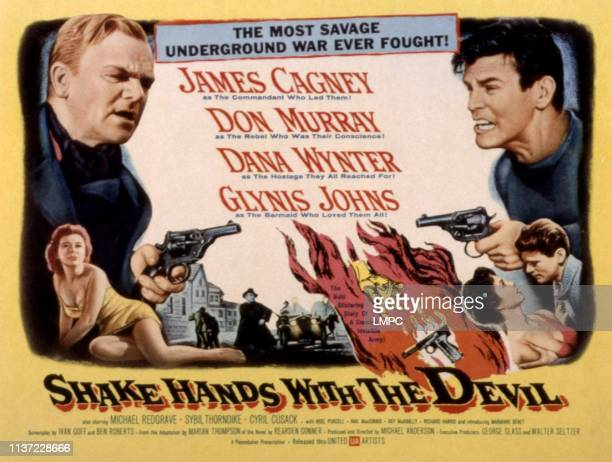 Shake Hands With The Devil poster James Cagney Don Murray Glynis Johns Dana Wynter 1959