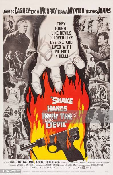 Shake Hands With The Devil poster US poster James Cagney Don Murray Glynis Johns bottom right from left Dana Wynter John Breslin 1959