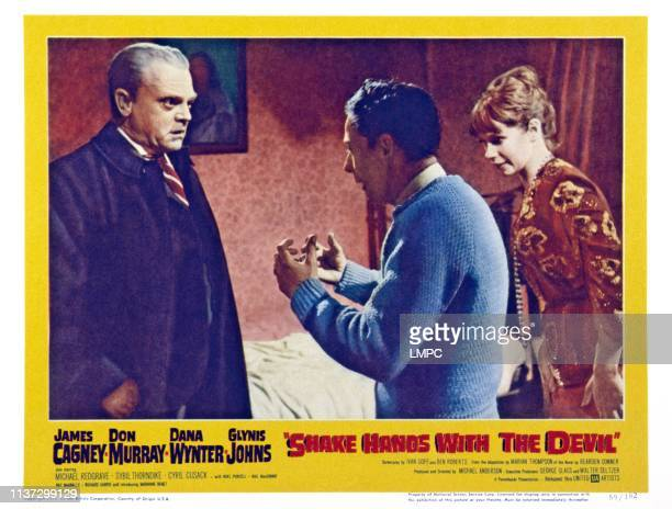 Shake Hands With The Devil US lobbycard left James Cagney right Marianne Benet 1959