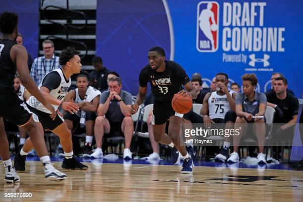 Shake Milton dribbles the ball during the NBA Draft Combine Day 1 at the Quest Multisport Center on May 17 2018 in Chicago Illinois NOTE TO USER User...