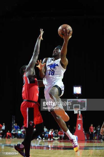 Shake Milton of the Delaware Blue Coats goes to the basket during an NBA GLeague game against the Windy City Bulls on March 15 2019 at Sears Centre...