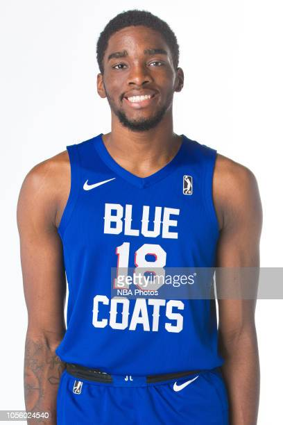 Shake Milton of the Delaware Blue Coats poses for a head shot during NBA GLeague media day on October 31 2018 at the Delaware Tech Collage in Newark...