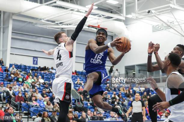 Shake Milton of the Delaware Blue Coats shoots the ball against the Raptors 905 during an NBA GLeague game on March 16 2019 at Fieldhouse in...