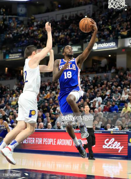 Shake Milton of the Philadelphia 76ers against the Indiana Pacers at Bankers Life Fieldhouse on December 31 2019 in Indianapolis Indiana NOTE TO USER...