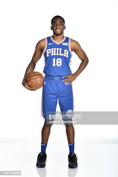 Shake Milton of the Philadelphia 76ers poses for a portrait at the Wells Fargo Center in Philadelphia Pennsylvania on September 21 2018 NOTE TO USER...
