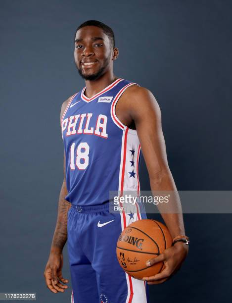 Shake Milton of the Philadelphia 76ers poses for a portrait during Media Day at 76ers Training Complex on September 30 2019 in Camden New JerseyNOTE...