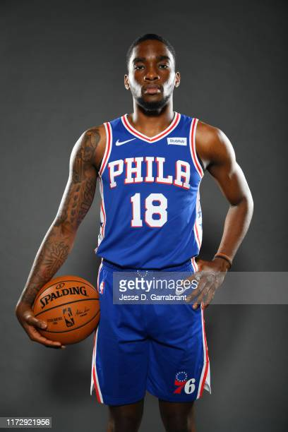Shake Milton of the Philadelphia 76ers poses for a portrait on October 1 2019 at the Philadelphia 76ers Training Complex in Camden New Jersey NOTE TO...