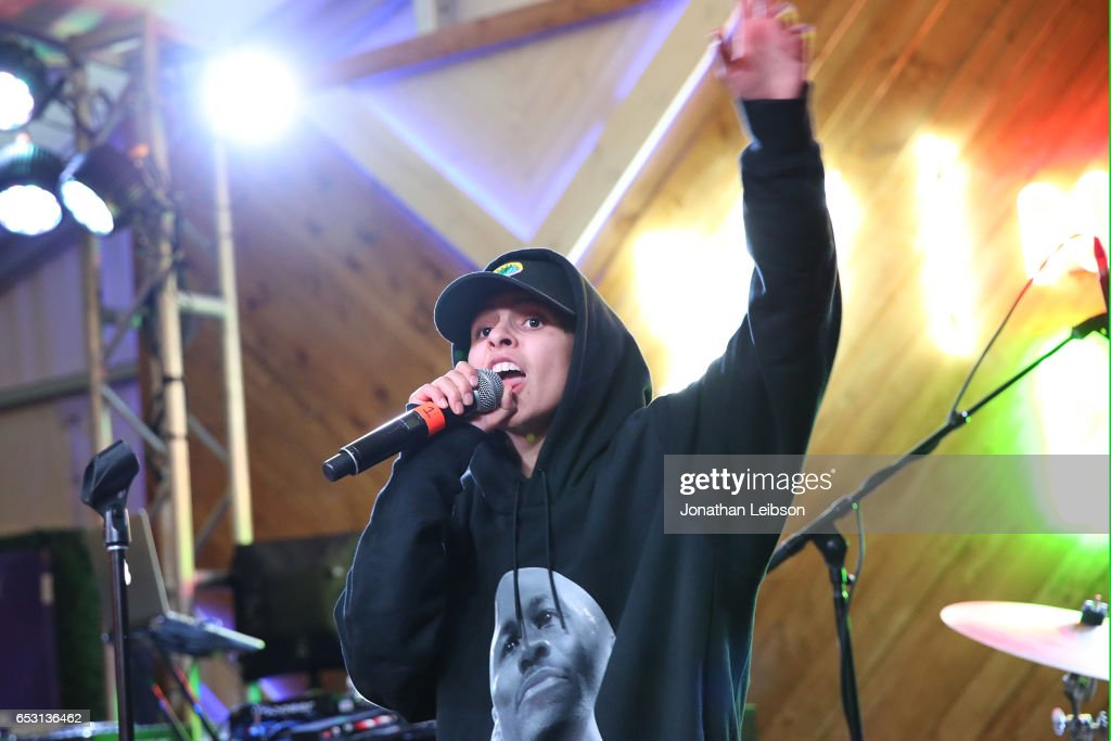 Shake performs at the NYLON And The Hulu Original The Handmaid's Tale Celebrate SXSTYLE At #TwitterHouse at Bar 96 on March 13, 2017 in Austin, Texas.