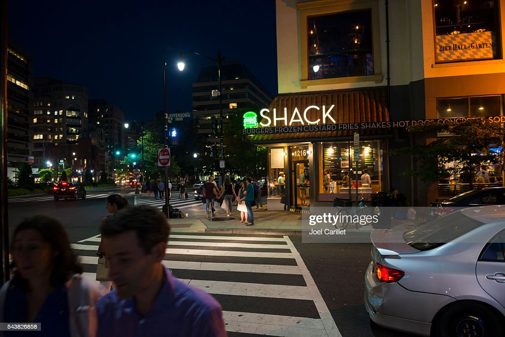 Shake Shack in Washington DC : Stock Photo
