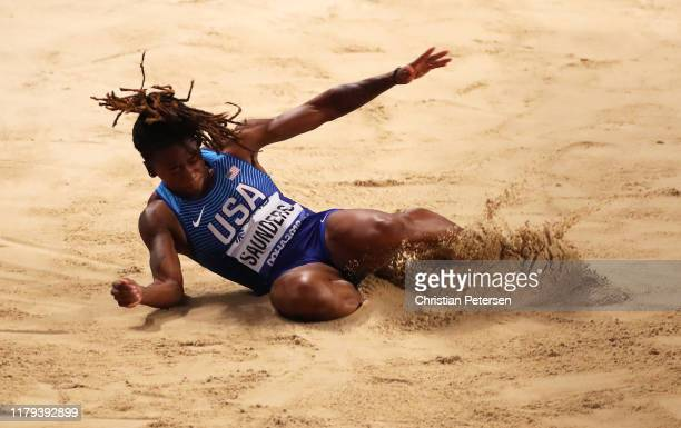 Sha'Keela Saunders of the United States competes in the Women's Long Jump final during day ten of 17th IAAF World Athletics Championships Doha 2019...