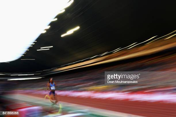 Shakeelah Saunders of the USA competes in the Womens Long Jump Final during the AG Memorial Van Damme Brussels as part of the IAAF Diamond League...