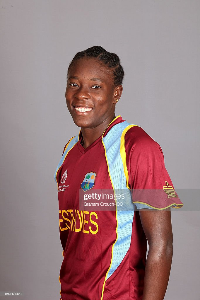 Shakera Selman of West Indies poses at a portrait session ahead of the ICC Womens World Cup 2013 at the Taj Mahal Palace Hotel on January 27, 2013 in Mumbai, India.