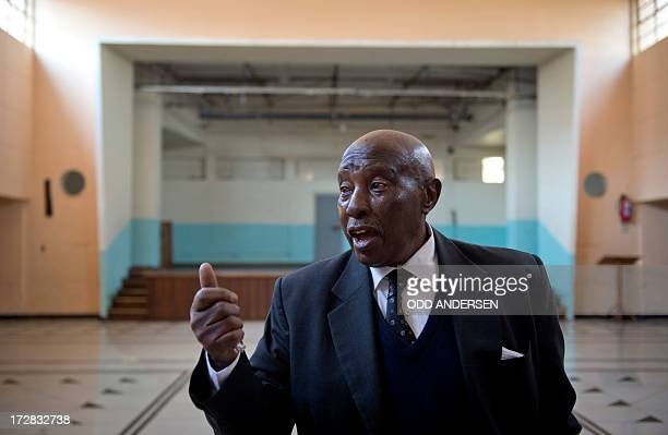 Shakes Tshabalala is photographed on July 3 2013 in the the main hall of the Donaldson Orlando Community Centre in the East Orlando Soweto In a...