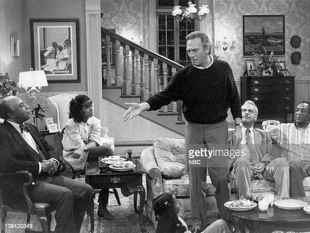 "Shakespeare"" Air date -- Pictured: Roscoe Lee Browne as Dr. Barnabus Foster, Tempestt Bledsoe as Vanessa Huxtable, Christopher Plummer as Jonathan..."