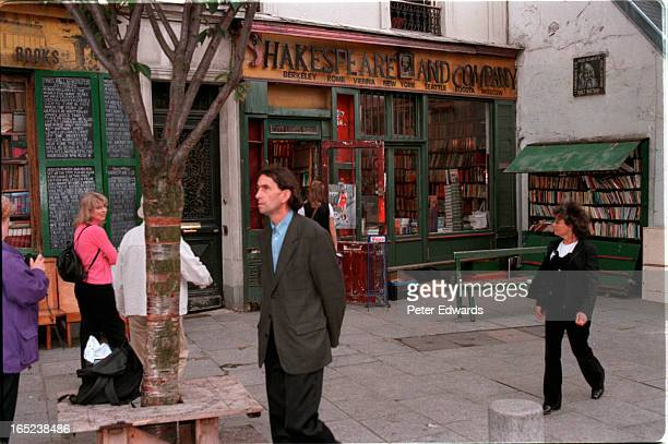 shakespeare and co bookstore on left bank of seine in paris where hemingway sartre and host of others used to hang around and where owner george...