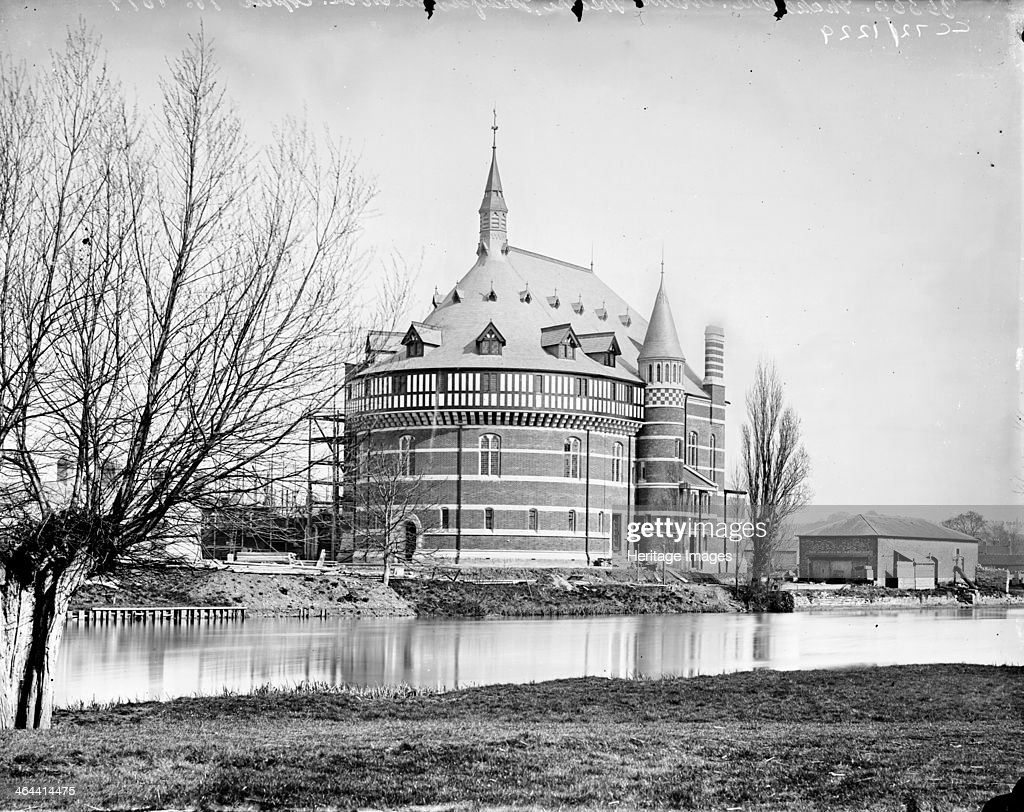 Shakespeare Memorial Theatre, Stratford Upon Avon, Warwickshire, c1860-c1922. Artist: Henry Taunt : News Photo