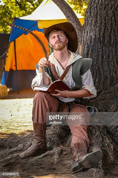 shakespeare writing - elizabethan style stock photos and pictures
