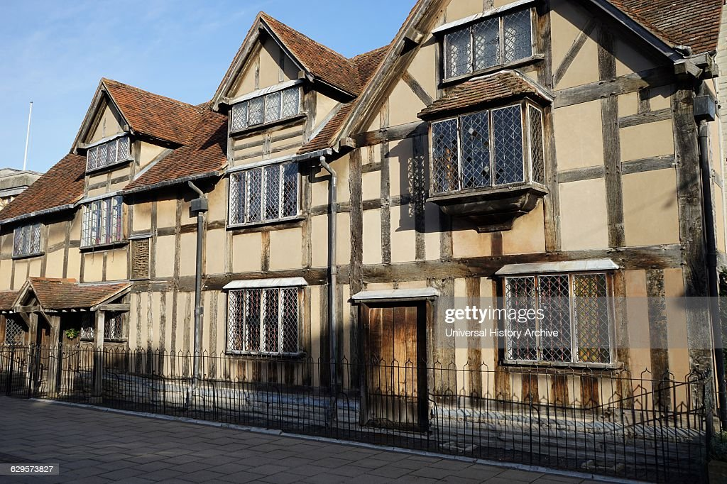 Shakespeares Birth Place Stratford Upon Avon England 16th Century Half Timbered