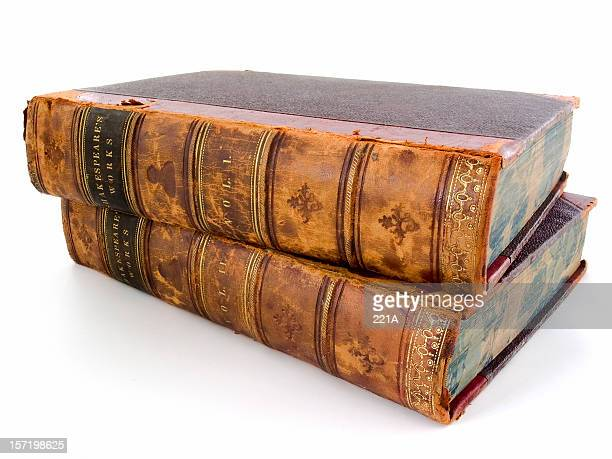 Shakespeare's Works - two antique volumes on white