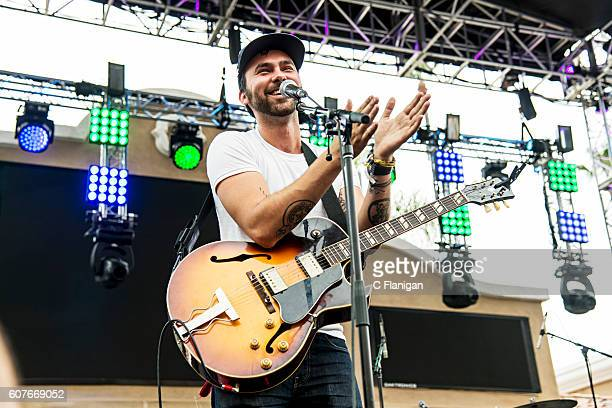Shakey Graves performs on the Trestles Stage during the 2016 KAABOO Del Mar at the Del Mar Fairgrounds on September 18 2016 in Del Mar California