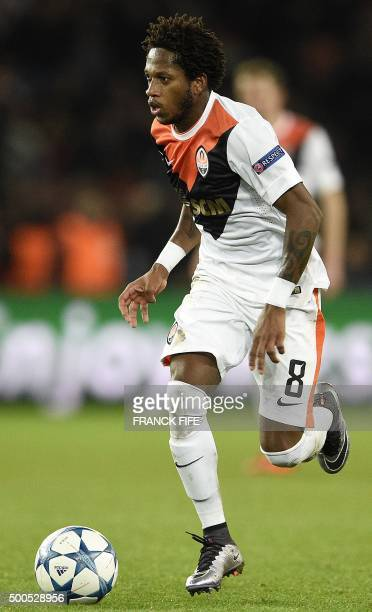 Shakhtar Donetsk's Brazilian midfielder Fred controls the ball during the UEFA Champions League group A football match between ParisSaintGermain and...