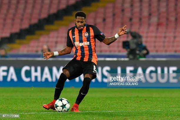 Shakhtar Donetsk's Brazilian midfielder Fred controls the ball during the UEFA Champions League Group F football match Napoli vs Shakhtar Donetsk on...