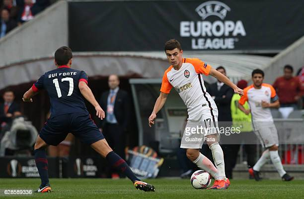 Shakhtar DonetskÕs forward Andriy Boryachuk in action during the UEFA Europa League match between SC Braga and FC Shakhtar Donetsk at Estadio...