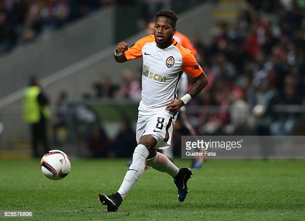 Shakhtar Donetsk's midfielder Fred in action during the UEFA Europa League match between SC Braga and FC Shakhtar Donetsk at Estadio Municipal de...