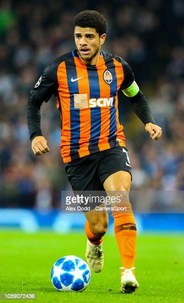 Shakhtar Donetsk's Taison during the Group F match of the UEFA Champions League between Manchester City and FC Shakhtar Donetsk at Etihad Stadium on...