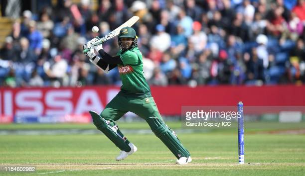 Shakib Al Hasan of Bangladesh bats during the Group Stage match of the ICC Cricket World Cup 2019 between England and Bangladesh at Cardiff Wales...