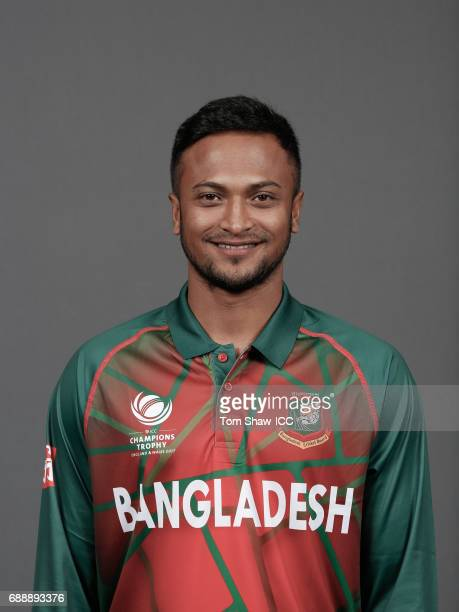 Shakib Al Hasan of Bangladesh poses for a picture during the Bangladesh Portrait Session for the ICC Champions Trophy at Grand Hyatt on May 26 2017...