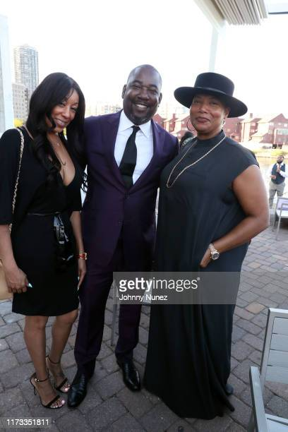 Shakim Compere and Queen Latifah attend the Treach Cicely Evans Wedding at Waterside Reception Hall on September 08 2019 in North Bergen New Jersey