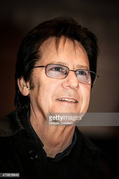 Shakin' Stevens poses on stage ahead of Albert Lee's 70th Anniversary Concert at Cadogan Hall on March 1 2014 in London United Kingdom